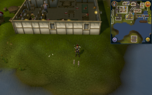 Compass clue Ardougne south of Poison Arrow pub.png