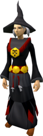 Dagon'hai robe armour equipped (female).png: Dagon'hai hat equipped by a player