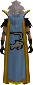 Retro hooded fishing cape (t) equipped.png: Hooded fishing cape (t) equipped by a player