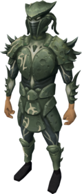 Sirenic armour set (barrows) equipped.png: Sirenic chaps (barrows) equipped by a player