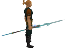 Augmented crystal staff equipped.png: Augmented crystal staff equipped by a player