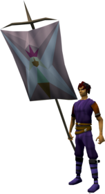 Banner (Fairy) equipped.png: Banner (Fairy) equipped by a player