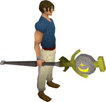 Cosmic talisman staff equipped.png: Cosmic talisman staff equipped by a player