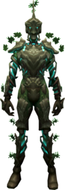 Nature's sentinel outfit equipped.png: Nature's sentinel chest equipped by a player