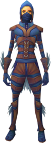 Nimble outfit equipped.png: Nimble legwear equipped by a player