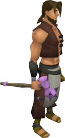 Novite maul equipped.png: Novite maul equipped by a player