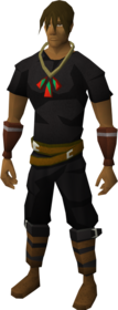 Pendant of Strength equipped.png: Pendant of Strength equipped by a player