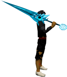 Zaros godsword (ice) equipped.png: Augmented Zaros godsword (ice) equipped by a player