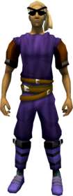 Bandana and eyepatches (orange) equipped.png: Bandana and eyepatches (orange) equipped by a player
