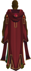 Hooded max cape equipped.png: Hooded max cape equipped by a player