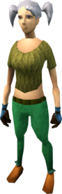 Culinaromancer's gloves 8 equipped (female).png: Culinaromancer's gloves 8 equipped by a player