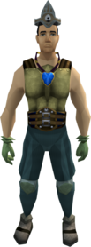 Easy task set equipped (male).png: Varrock armour 1 equipped by a player