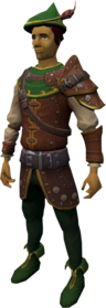 Elite Robin Hood armour equipped.png: Elite Robin Hood tunic equipped by a player