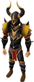 Elite black armour equipped (male).png: Elite black full helm equipped by a player