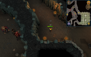 Scan clue Taverley Dungeon north-west corner of magic axe chamber.png