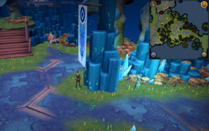 Scan clue Heart of Gielinor next to Helwyr banner in Seren Encampment.png