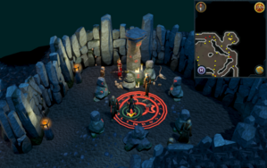 Scan clue Taverley Dungeon in north-east chaos druid chamber.png
