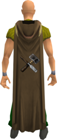 Hooded crafting cape equipped.png: Hooded crafting cape equipped by a player