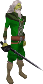Lucky chaotic rapier equipped.png: Lucky chaotic rapier equipped by a player