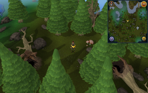 Scan clue Tirannwn south-east of Hunter training icon south of Elf Camp.png
