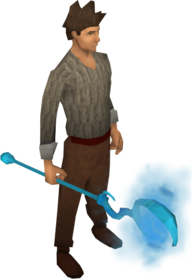 Water battlestaff equipped.png: Water battlestaff equipped by a player
