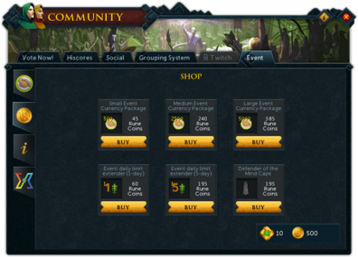 Community (Gielinorian Giving) interface shop.png