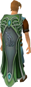Master clan cape equipped.png: Master clan cape equipped by a player