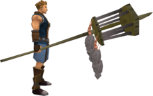 Rat pole (full) equipped.png: Rat pole equipped by a player