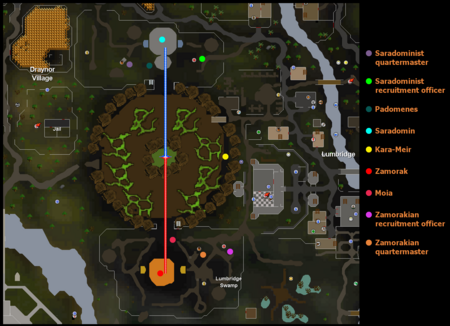 The battlefield of the Battle of Lumbridge