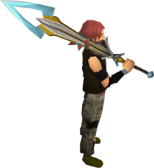 Exquisite_2h_sword_equipped.png: Exquisite 2h sword equipped by a player