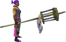 Rat pole (4) equipped.png: Rat pole equipped by a player