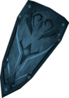 A rune kiteshield, one of the oldest shields in the game.