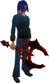 Dragon battleaxe equipped.png: Dragon battleaxe equipped by a player