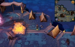 Scan clue Heart of Gielinor near 3 tents, south-east of first threshold to Twin Furies.png
