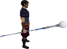 White magic staff equipped.png: White magic staff equipped by a player