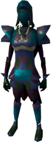 Lunar armour equipped (female).png: Lunar helm equipped by a player