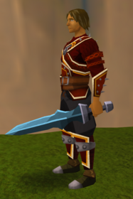 Off-hand rune ceremonial sword IV equipped.png: Off-hand rune ceremonial sword IV equipped by a player