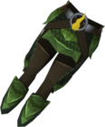 Blessed dragonhide chaps (Guthix) detail.png