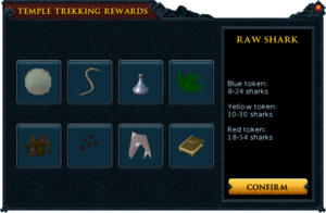 Temple Trekking rewards interface.png