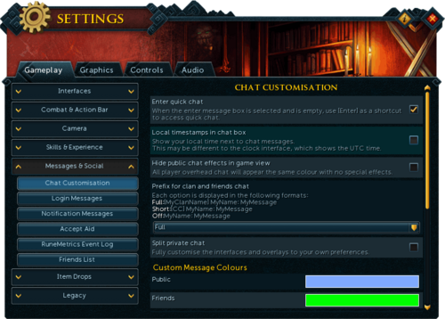Settings Social Chat Customisation.png