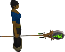 Banner of Sliske equipped.png: Banner of Sliske equipped by a player
