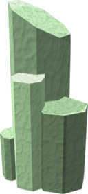Ring of stone (green stone).png: Ring of stone (green) equipped by a player