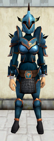 Rune armour (Bandos) (heavy) equipped (female).png: Rune platelegs (Bandos) equipped by a player