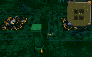 Scan clue Brimhaven Dungeon lower level center of iron and steel dragon chamber.png