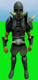 Torag's armour equipped (male).png: Torag's platebody equipped by a player