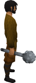 Steel mace equipped.png: Steel mace equipped by a player