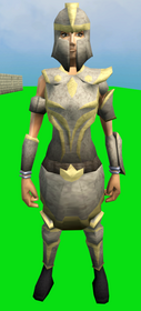 Corrupt Statius's armour equipped (female).png: Corrupt Statius's platebody equipped by a player