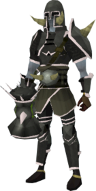 Lucky Torag's armour equipped (male).png: Lucky Torag's platebody equipped by a player