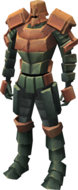 Teralith armour equipped.png: Teralith leggings equipped by a player