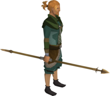 Bronze hasta equipped.png: Bronze hasta equipped by a player